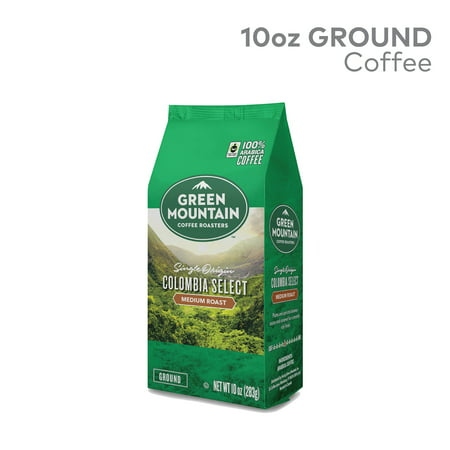 Green Mountain Coffee Roasters Fair Trade Certified Colombian Fair Trade Select Ground Coffee, Medium Roast, Bagged 10 Ounce