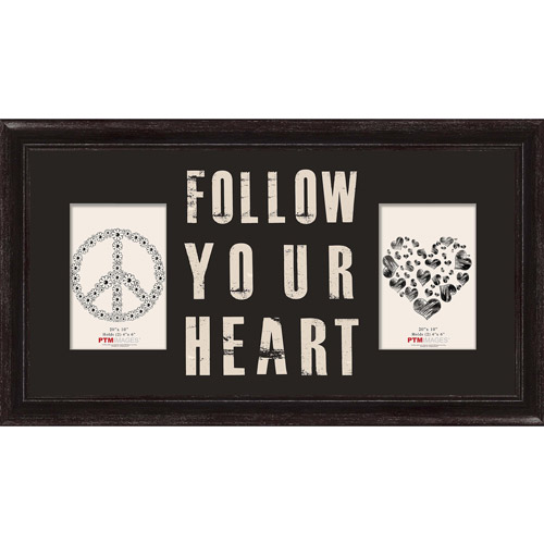 """Follow Your Heart II 20"""" x 10"""" Collage Picture Frame"""