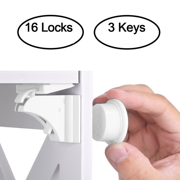 Herchr Cabinet Lock Baby Safety Magnetic Cabinet Lock Set Hurrise Child Safety Locks Kids Toddler Proofing Baby Safety Magnetic Cabinet Lock Set Walmart Com Walmart Com