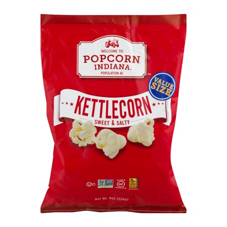 (4 Pack) Popcorn Indiana Kettle Corn Sweet & Salty, 8.0