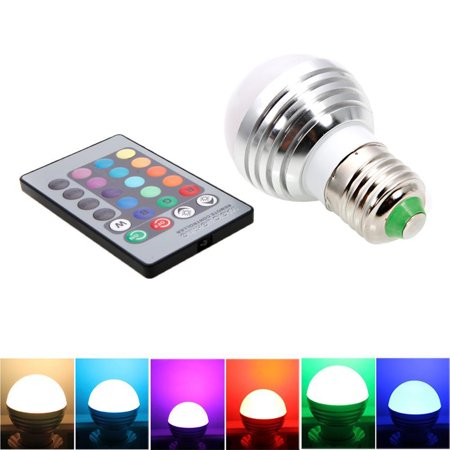 Zimtown E27 3W Magic RGB Colors Changing LED Light Bulb Remote Control Energy AC85-265V for $<!---->