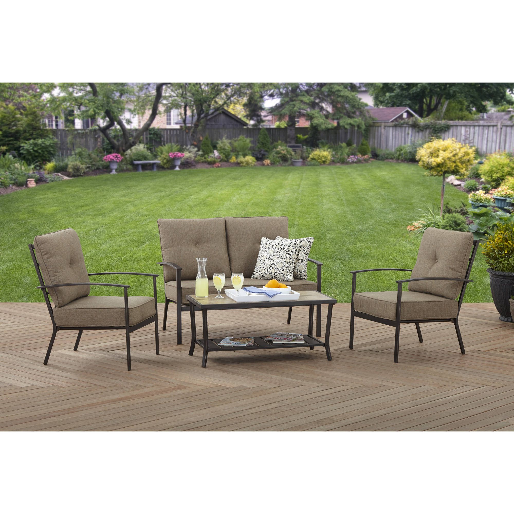 Better Homes and Gardens Peachtree Park 4 Piece Conversation Set