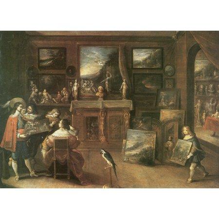Framed Art for Your Wall Francken d. J., Frans - Gallery interior 10 x 13