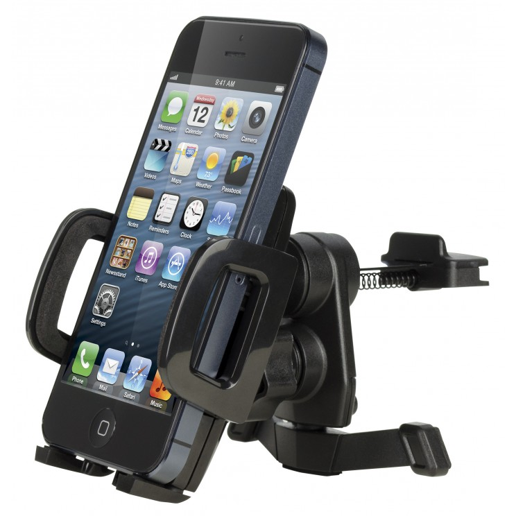 Cygnett Vehicle Mount For Smartphone, Tablet Pc, Notebook, Iphone, Ipad, Ipod - Black (cy1217acvvu)