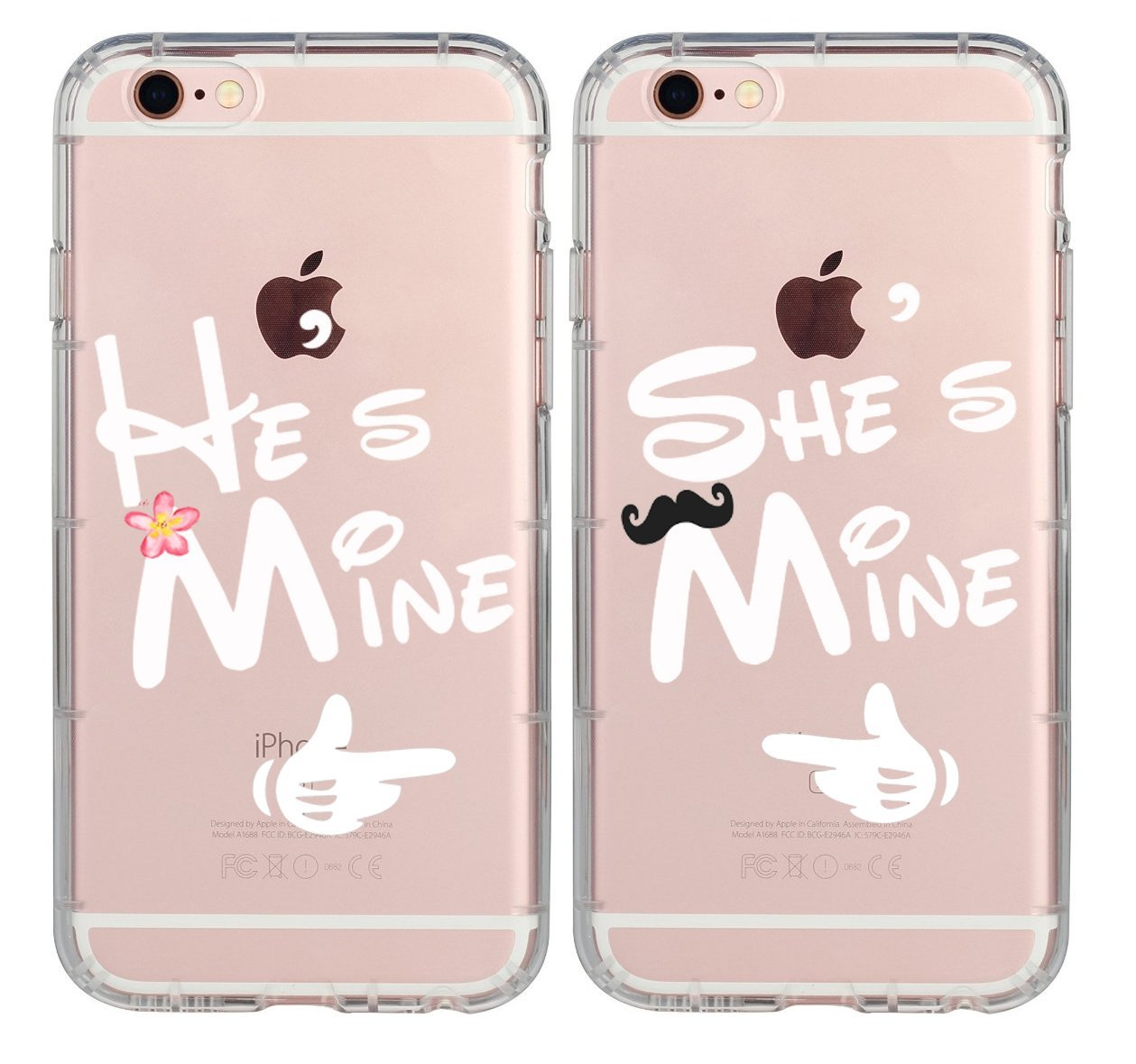 Boyfriend Girlfriend Hubby Wiffy Cute He\'s Mine She\'s Mine Rubber ...