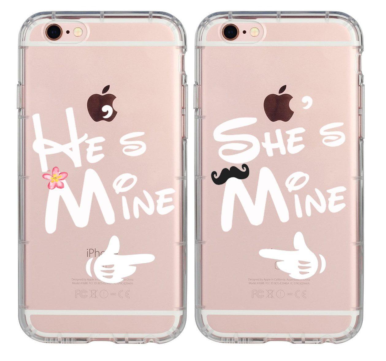Boyfriend Girlfriend Hubby Wiffy Cute He\'s Mine She\'s Mine Rubber ...
