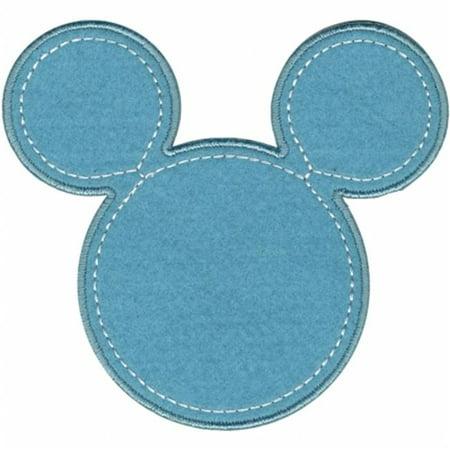 Halloween Mickey Applique Designs (Disney Mickey Mouse Iron-On Applique-Mickey Blue)