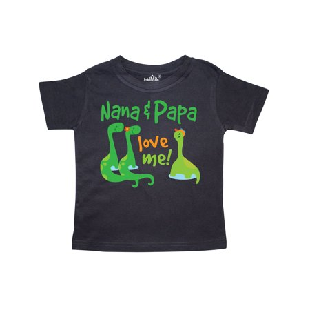 Nana Papa Love Me Grandchild Dinosaur Toddler T-Shirt (Love Me Not Clothing)