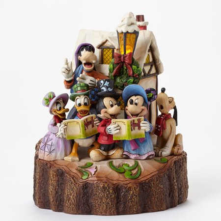 Disney Tradition Jim Shore Mickey and Friends Caroling Light-Up - Jim Shore Halloween Disney