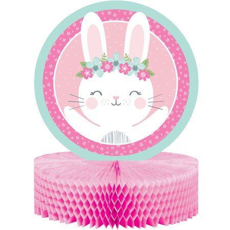 Pack of 6 White and Pink Bunny Party Centerpieces