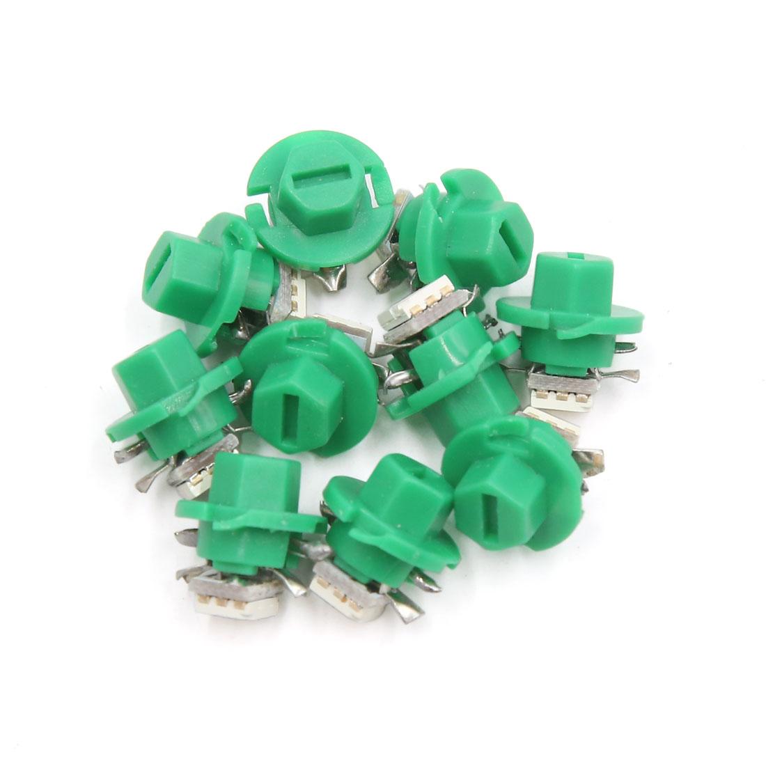 10 Pcs B8.4 Green 5050  Auto Car Interior Dashboard Dash Gauge Lights Bulb