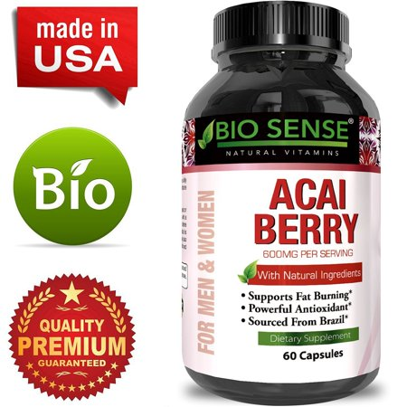 Pure Acai Berry Concentrate Capsules â?? Acai Berry Cleanse Weight Loss + Antioxidant Support + Energy + Immune System Booster - Health and Wellness Dietary Supplement For Women &