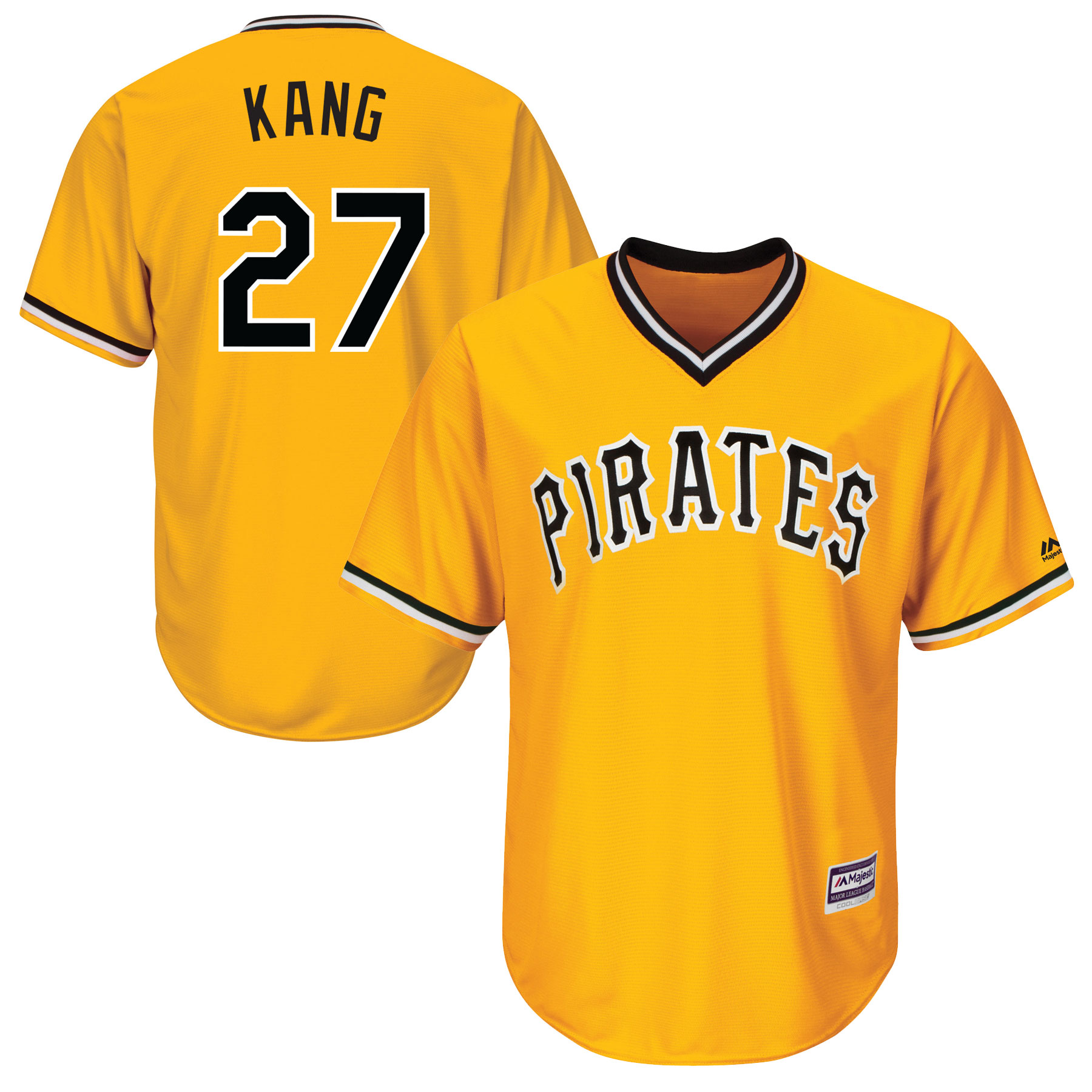 Men's Majestic Jung Ho Kang Gold Pittsburgh Pirates Official Cool Base Player Jersey
