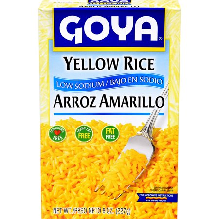 Goya Yellow Rice Low Sodium 8 Oz Walmart
