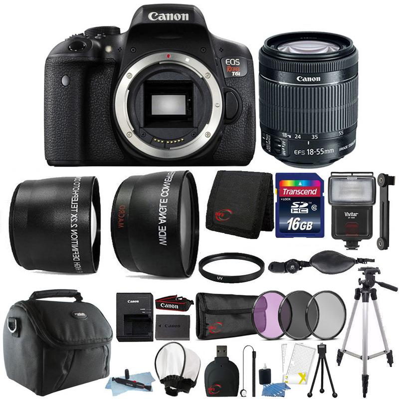Canon EOS Rebel T6i 24.2MP Digital SLR Camera 18-55mm Lens and 16GB Accessory Bundle