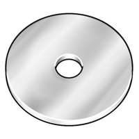 """GRAINGER APPROVED 5/8"""" x 2-1/2"""" OD Plain Finish 18-8 Stainless Steel Large OD Thick Fender Washer, Z9691SS"""