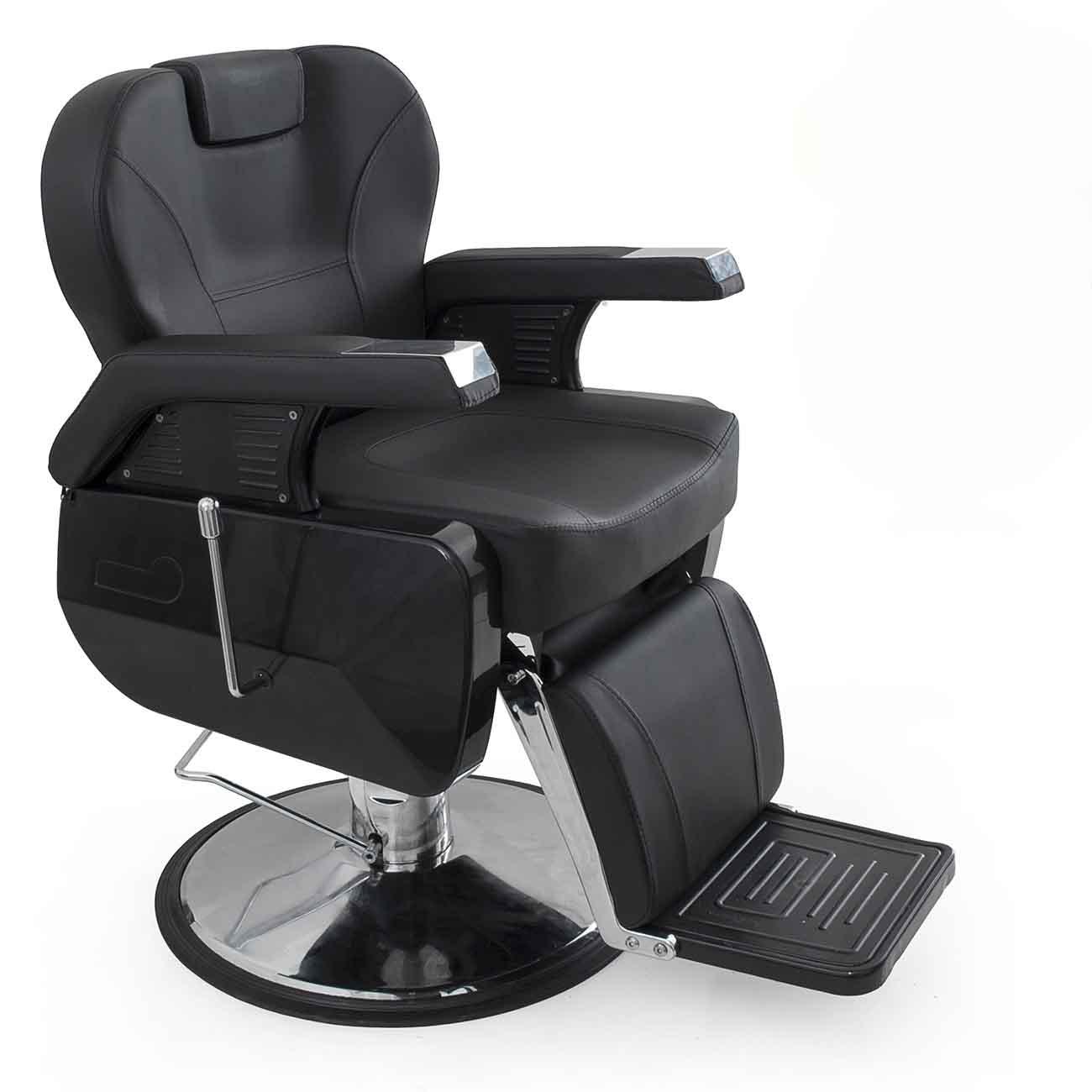 Bellavie Hydraulic Barber Chair Reclining Salon Equipment Black Walmart Com Walmart Com