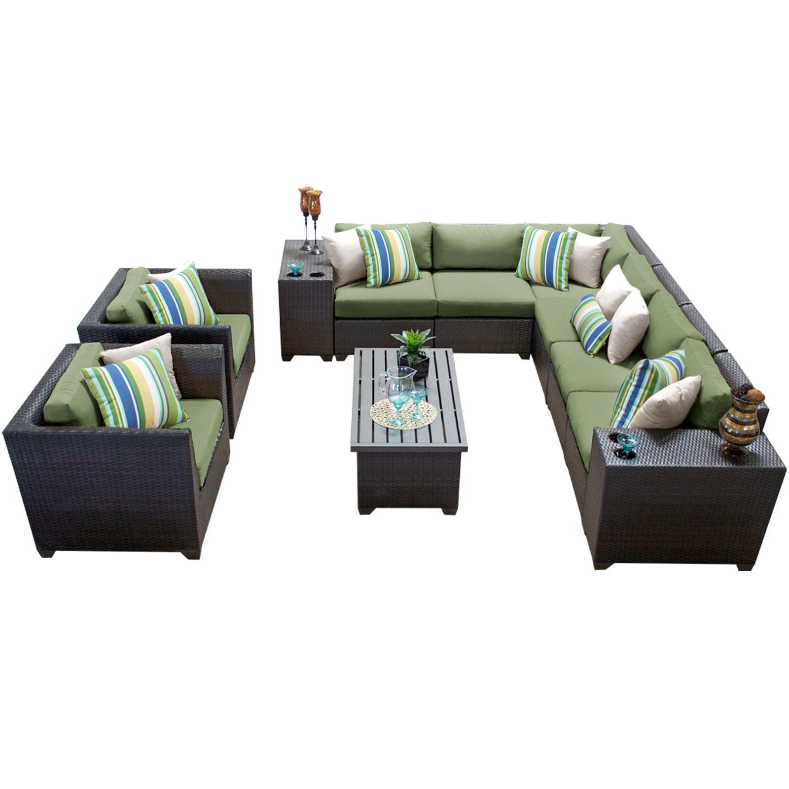 Bermuda 11 Piece Outdoor Wicker Patio Furniture Set 11d by TK Classics