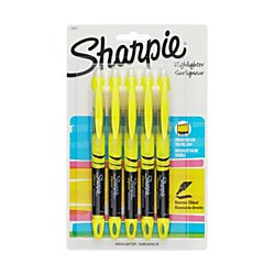 Sharpie® Accent® Liquid Highlighters, Yellow, Pack Of 5