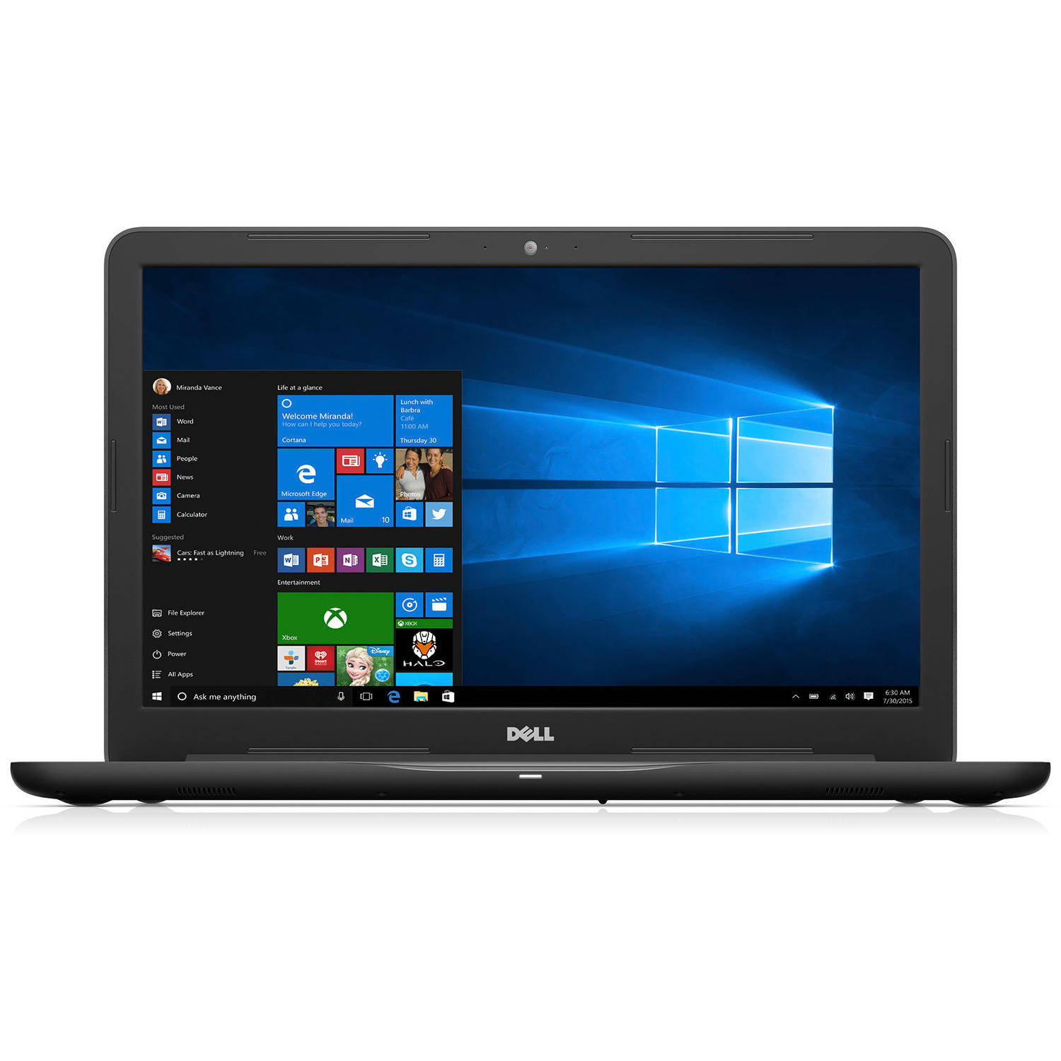 "Dell Inspiron i57656382GRY 17.3"" Laptop, Windows 10 Home, AMD FX 9800P Processor, 16GB RAM, Radeon R8 M445DX Dual Graphics, 2TB Hard Drive"