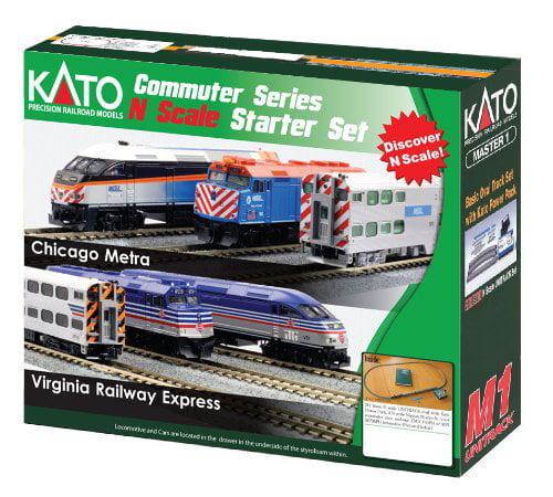 Kato N MP36PH Commuter Starter Set, VRE Multi-Colored