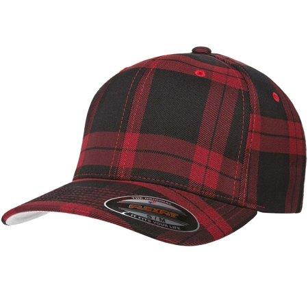 The Hat Pros Fitted Flexfit Tartan Plaid ( Black Red) L XL - Walmart.com 6ada46ca826