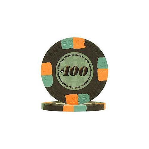PaulsonR Tophat & Cane Clay Poker Chips Sampler