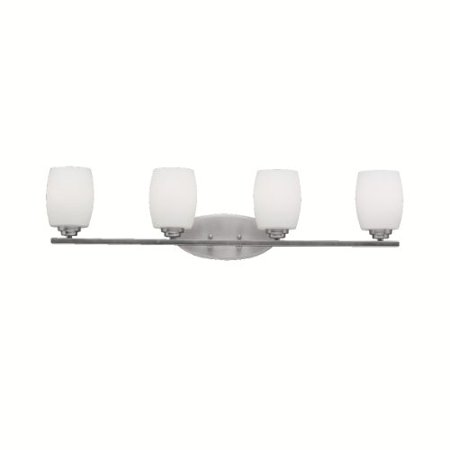 "Kichler 5099NI Bath Vanity Wall Lighting Fixtures, Brushed Nickel 4-Light (34"" W x 10"" H) 400 Watts"