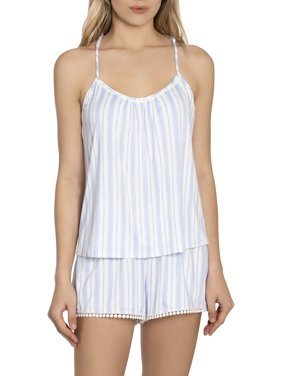 Secret Treasures Women's Pom Pom Raceberback Cami and Shorts Sleep Set