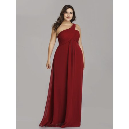 075e8aca1ca10 Ever-pretty - Ever-Pretty Womens Vintage One Shoulder Long Formal Evening Party  Mother of the Bride Maxi Dresses for Women 9816P Burgundy US 18 - Walmart.  ...