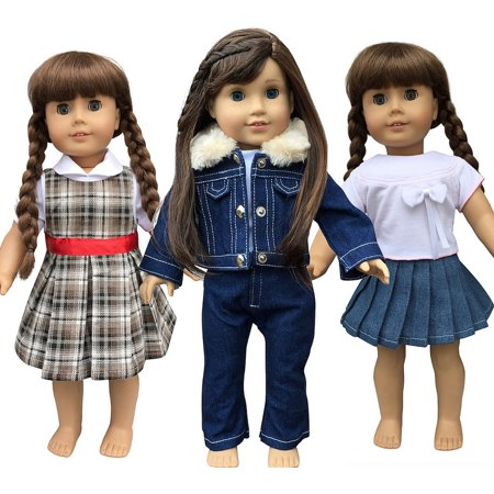 In Style Doll Clothes For American Girl Dolls  3 Outfits  18 Inch