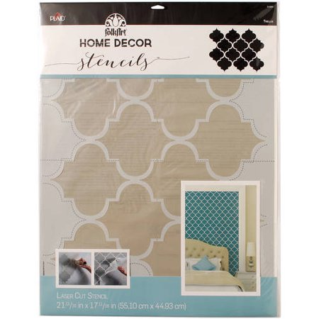 Folkart home decor wall stencil for Walmart arts and crafts paint