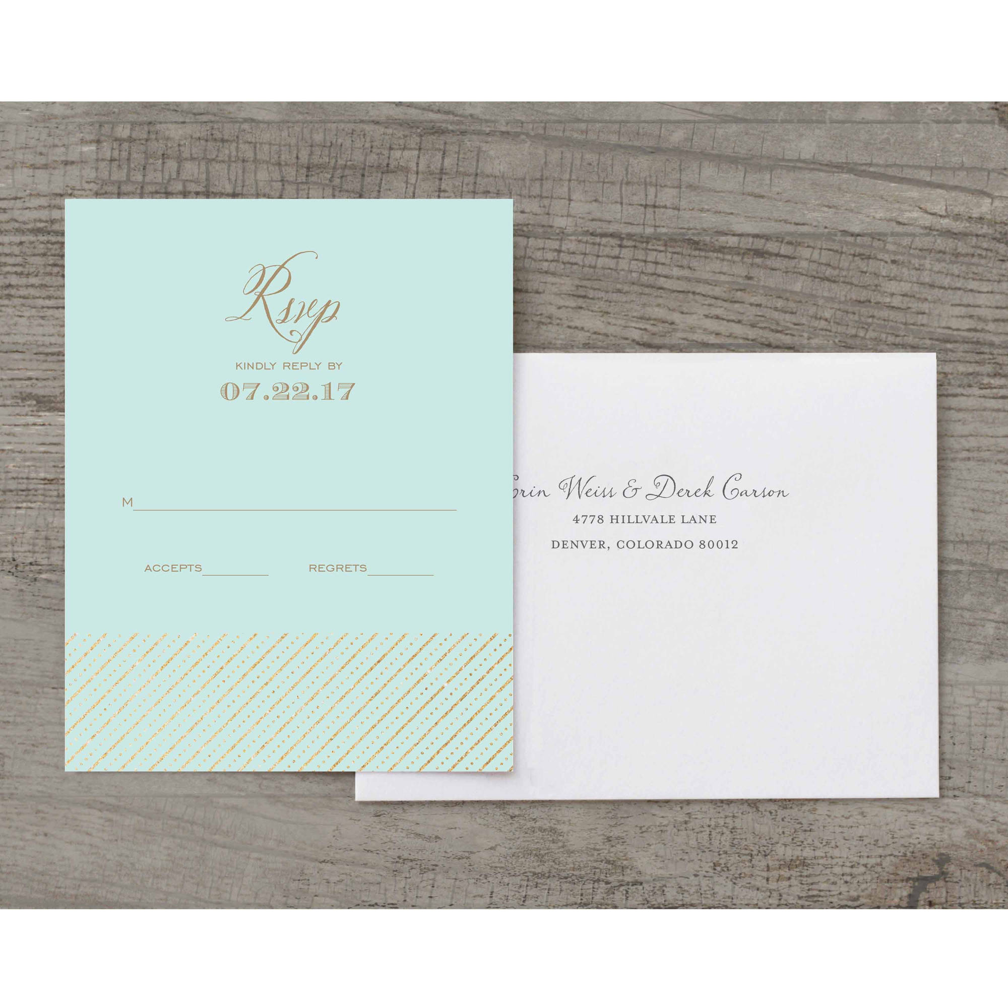 Mr and Mrs Deluxe RSVP