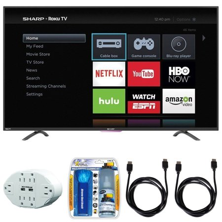 sharp n4000 hd 32 class wifi roku 60hz led smart tv 32n4000u with 6 o. Black Bedroom Furniture Sets. Home Design Ideas