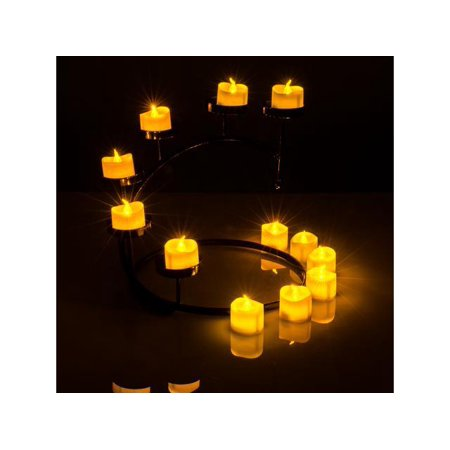 AGPtek Flickering Lot 6 PCS LED Flameless Battery Operated Tea light Tealight Candles with Batteries - Flickering Flameless Tea Lights