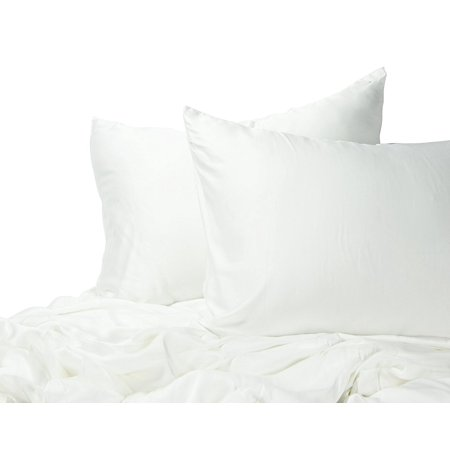 Emolli Bamboo Duvet Cover Set  Super Luxious Silky Soft Rayon From Bamboo With Hypoallergenic And Wrinkle Resistant  White  Queen