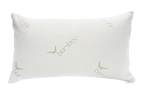 ellington home bamboo memory foam pillow neck back and body pain relief queen