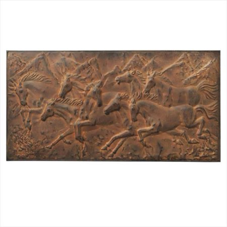 Pack of 2 Antique Style Distressed Finish Copper Galloping Horses ...
