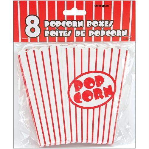 """Small Popcorn Boxes 5""""X3.75""""X2"""" 8/Pkg Unique Industries 59023"""