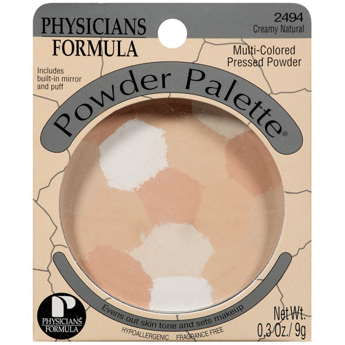 Physicians Formula Powder Palette Multi-Colored Pressed 2494 Creamy Natural Physicians Formula Powder .3 Oz