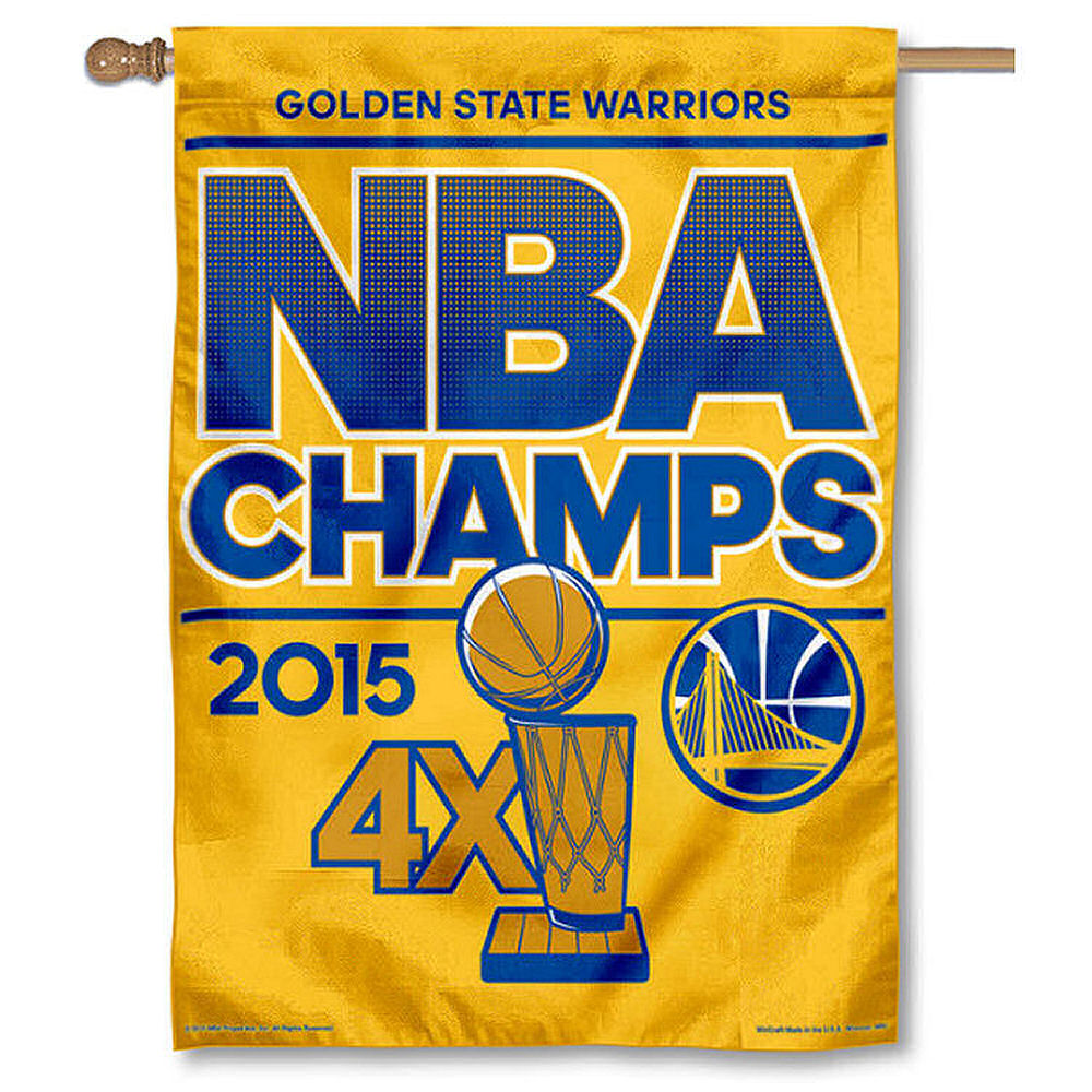 Golden State 2015 NBA Champs Banner Flag