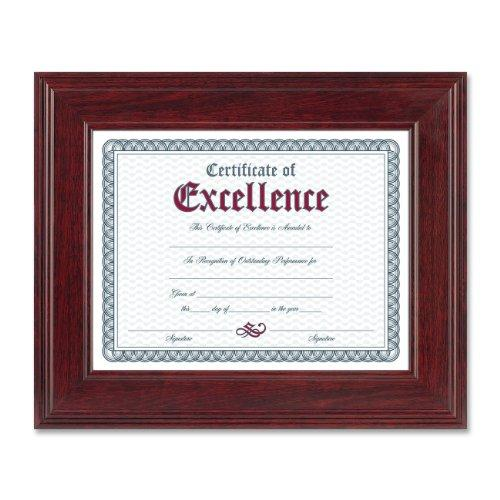 "Burnes Executive Mahogany Document Frame - 11"" X 8.50"" Insert - Desktop, Wall Mountable - Horizontal, Vertical - Mahogany (N15787NT)"