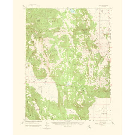 Topographical Map Print - Likely California Quad - USGS 1964 - 23 x ...