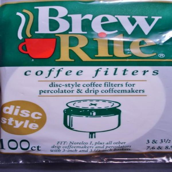 Brew Rite Disc Coffee Filter 100 Ct. by Rockline Industries