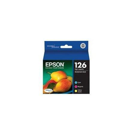 Epson Durabrite 126 Ink Cartridge - Cyan, Magenta, Yellow Inkjet - 3 / Pack (t126520)