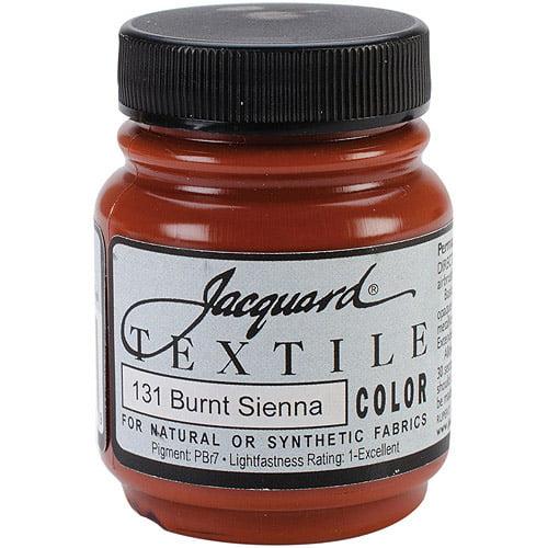Jacquard Textile Color Fabric Paint 2.25 Ounces-Burnt Sienna