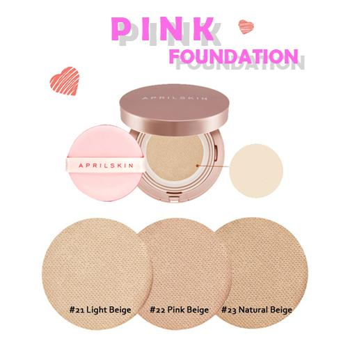 [April Skin] Magic Snow Fixing Foundation Pink SPF30/ PA+++  #21 Light Beige