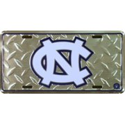 University of NC Tarheels Diamond Embossed License Plate