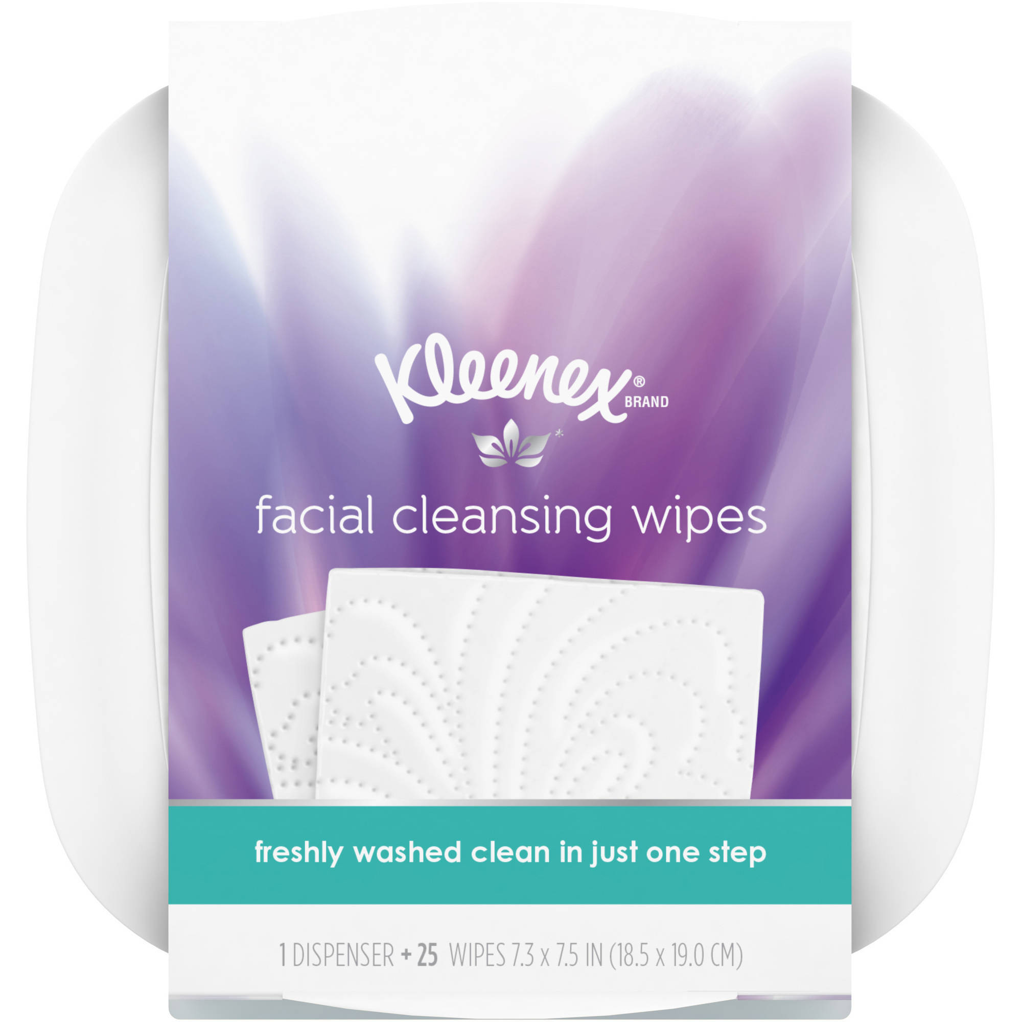 Kleenex Moist Facial Cleansing Wipes, Refillable Dispenser & Wipes