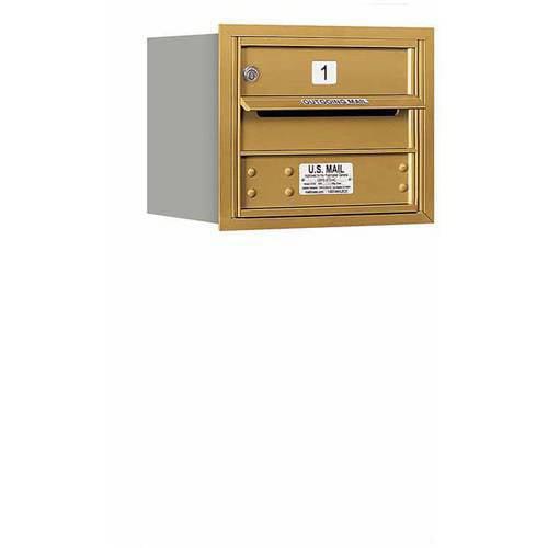 "Salsbury Industries 4C Horizontal Mailbox 3-Door High Unit (13""), Single Column, 1 MB1 Door, Aluminum, Rear Load, USPS Access"